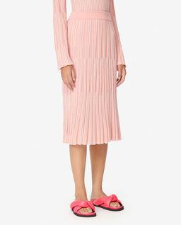 Růžová plisovaná sukně