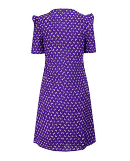 Fialové šaty s viskózou a lnem