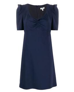 Tmavomodré mini šaty