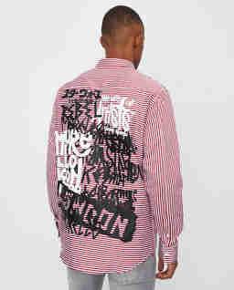 Koszula w paski z aplkacją
