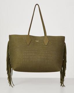 Skórzana torebka z frędzlami