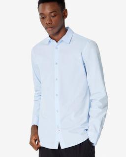 Niebieska koszula Slim Fit z logo