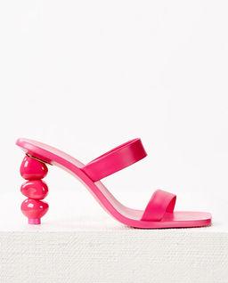 Różowe sandały na obcasie Meta