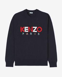 Czarny sweter z logo