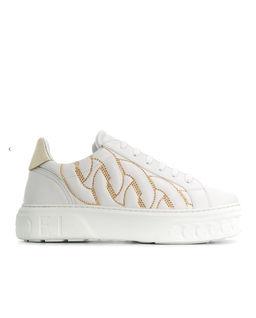 Białe sneakersy z jetami