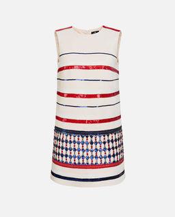 Sukienka mini w pasy