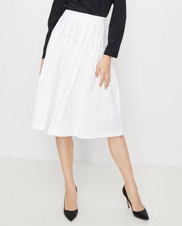 Biała spódnica midi
