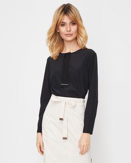 Czarna bluzka z jedwabiu