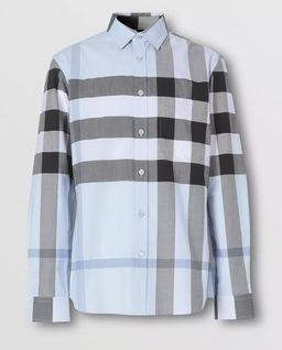 Jasnoniebieska koszula w kratkę