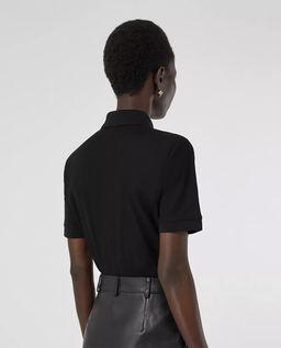 Czarna koszulka polo z bawełny