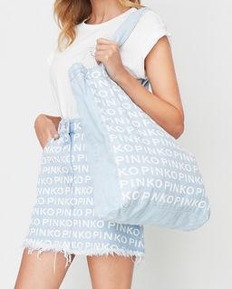Jeansowa torebka z logowaniem