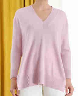 Różowy kaszmirowy sweter