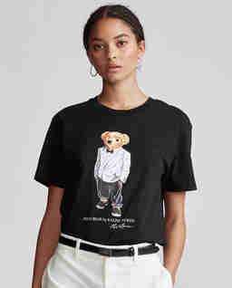 Černé tričko s medvídkem