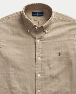 Męska koszula w kolorze beżowym