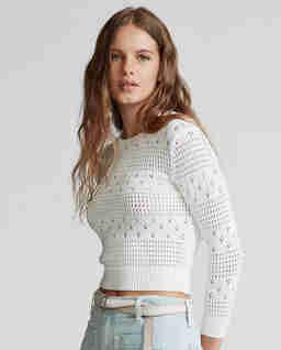 Krótki sweter z bawełny