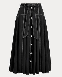 Czarna spódnica midi