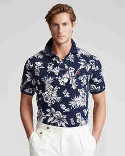 Koszulka polo w hawajski wzór Custom Slim Fit