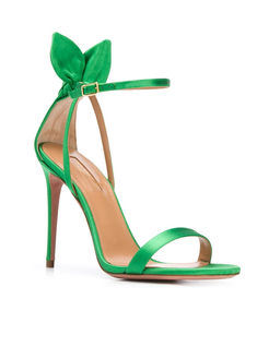 Zielone sandały na szpilce Deneuve