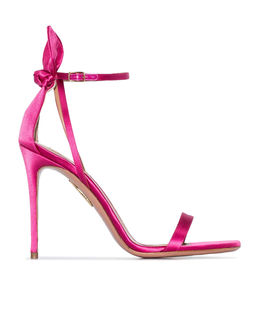 Różowe sandały na szpilce Deneuve