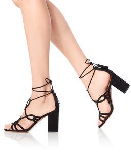 Czarne zamszowe sandały Gitana