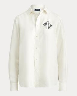 Biała koszula z jedwabiu