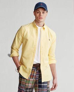 Żółta koszula Oxford