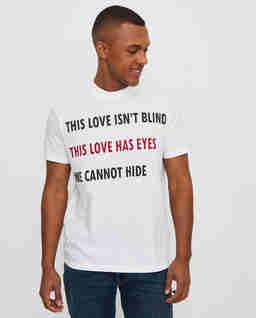 Biały t-shirt Love
