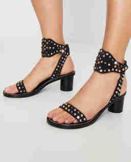 Czarne sandały Jaleo