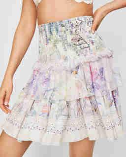 Jedwabna spódnica z kryształami