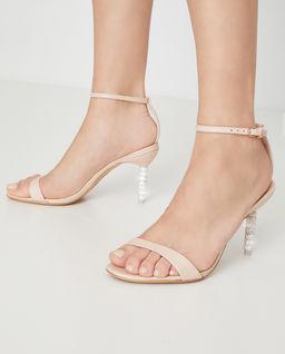 Beżowe sandały na obcasie Haley