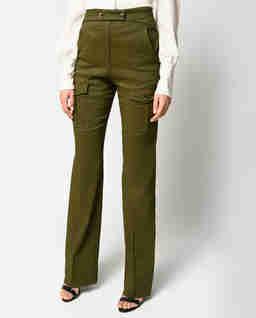 Dopasowane spodnie khaki