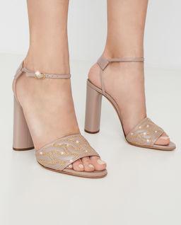 Beżowe sandały na obcasie Catanasse