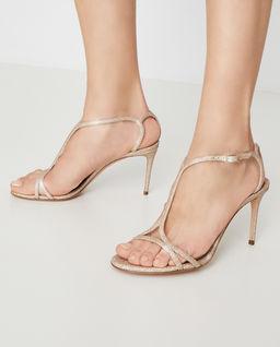 Brokatowe sandały na obcasie Citylight