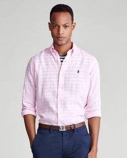 Męska różowa koszula z lnu