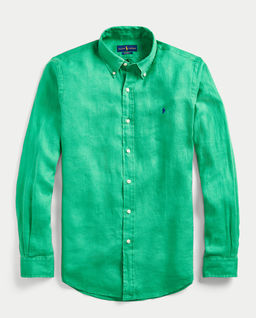 Zielona koszula z lnu