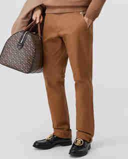Brązowe spodnie chino