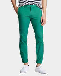 Zielone spodnie Chino Slim Fit