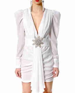 Biała sukienka mini Krystle