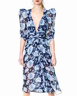 Niebieska sukienka midi Florentina