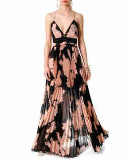 Jedwabna sukienka maxi Belinda