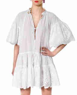 Biała sukienka mini Tenneisha