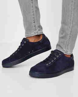 Granatowe sneakersy zamszowe