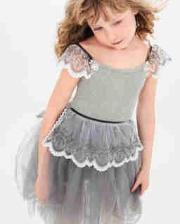 Sukienka szara z tiulem