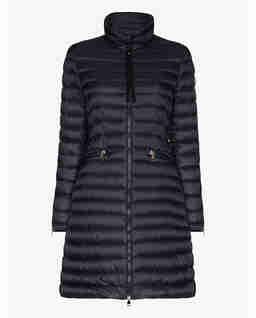 Granatowy płaszcz Sable