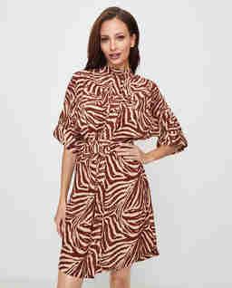 Jedwabna sukienka w zeberkę
