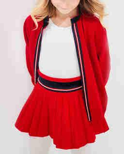 Czerwony kardigan z bawełny