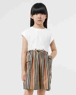 Bawełniana sukienka w paski 3-12 lat