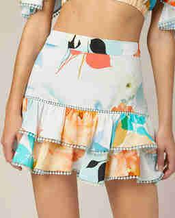 Spódnica mini z falbankami Fara