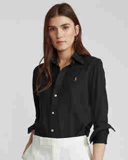 Czarna koszula Oxford Straight fit