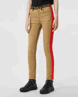 Beżowe spodnie z japońskiego jeansu
